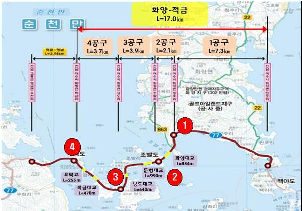 1. 고흥 영남~여수 화양간 설 명절맞이 연륙·연도교 임시개통.png