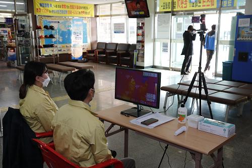 완도군은 화흥포항(노화, 보길, 소안 방면)에서 열감지카메라를 운영 중이다..png