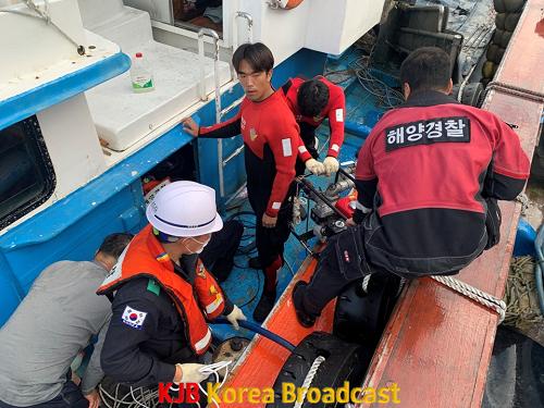 완도해경, 좌초·침수 선박 신속 구조.. 인명 및 해양오염 피해 없어 (1).png